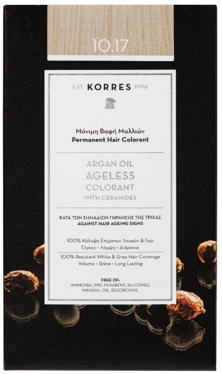 KORRES Argan Oil Colorant NO10.17 Platinum Blonde Beige, 50ml