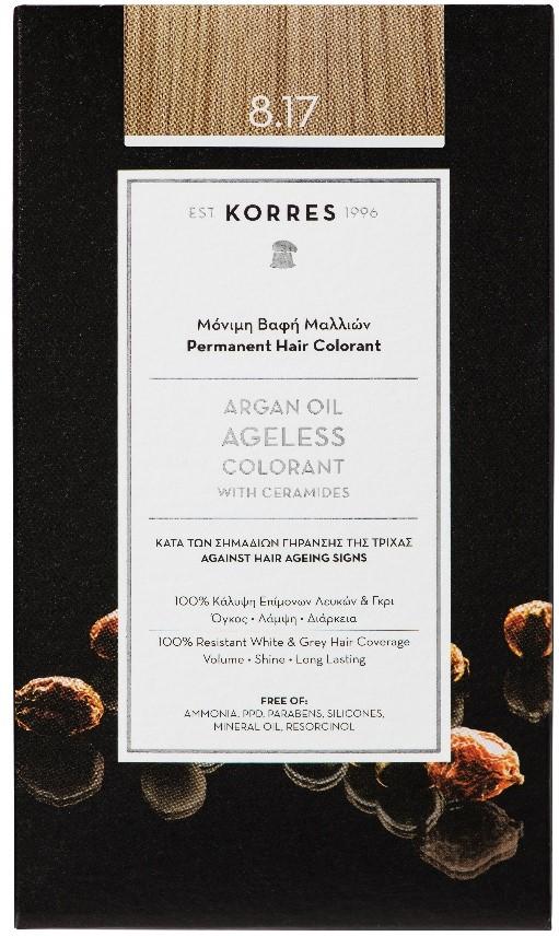 KORRES Argan Oil Colorant NO8.17 Light Blonde Beige, 50ml