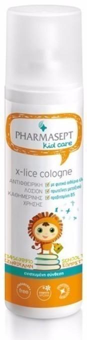 PHARMASEPT Kid Care X-lice Cologne, Προληπτική αντιφθειρική λοσιόν καθημερινής χρήσης χωρίς άρωμα,100ml