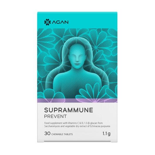 AGAN Suprammune Prevent, Συμπλήρωμα Διατροφής για Ενίσχυση της Άμυνας, 30 μασώμενες ταμπλέτες