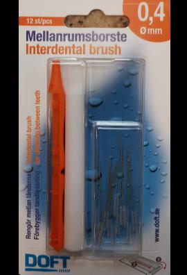 Doft Interdentals Μεσοδόντια Βουρτσάκια 0.4 πορτοκαλί, σε φακελάκι (12 τμχ)