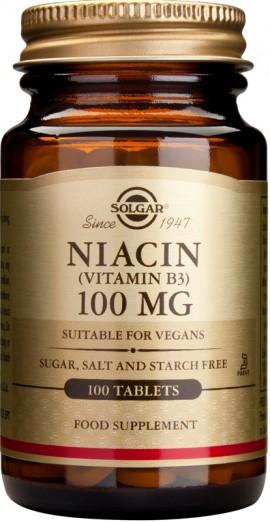 SOLGAR NIACIN 100MG 100TAB