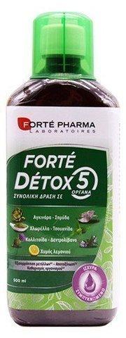 FORTE PHARMA Detox 5,  Για Εξισορρόπηση Μετάλλων, Αποτοξίνωση και Καθαρισμό του  Οργανισμού (500ml)