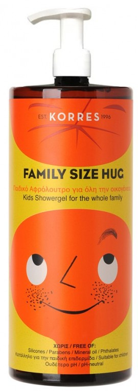 KORRES Hug Family Size Παιδικό Αφρόλουτρο για Όλη την Οικογένεια, 1LT