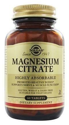 SOLGAR Citrate Magnesium 200mg, 60Tabs