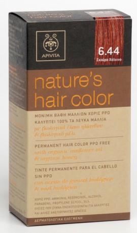 APIVITA Natures Hair Color N6.44 Σκούρο Χάλκινο, 125ml