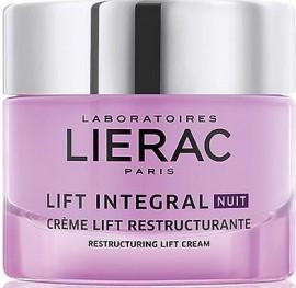 LIERAC Lift Integral Night Restructuring Lift Cream Κρέμα Λίφτινγκ Νυκτός Αντιγήρανσης και Αναδόμησης, 50ml