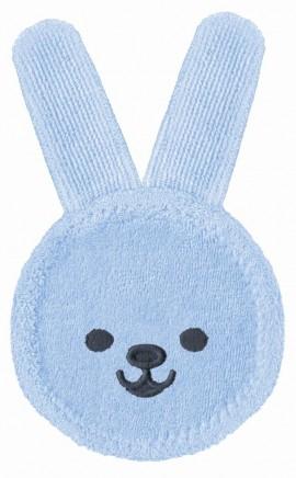 MAM Oral Care Rabbit Γάντι καθαρισμού στοματικής κοιλότητας και για νεογέννητα μωρά code 611 Blue