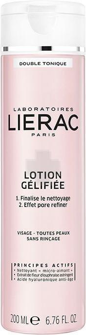 LIERAC Demaquillant Lotion Gelifiee Λοσιόν Ζελ Διπλής Τόνωσης για όλες τις επιδερμίδες, 200ml