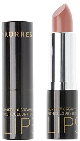 KORRES Morello Creamy Lipstick NO04 Honey Nude Κρεμώδες Κραγιόν, 3.5gr