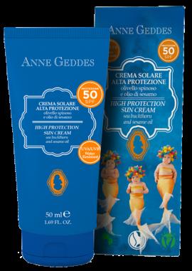 Anne Geddes High Protection SPF 50 Sun Cream Αντηλιακή Κρέμα προσώπου-σώματος 50ml