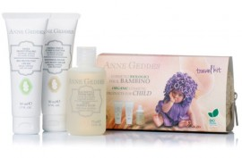 Anne Geddes Travel Kit For Child  Bio Protective Cream  50ml+Soothing Facial and Body Cream 50ml +Baby Bubble Bath 75ml.