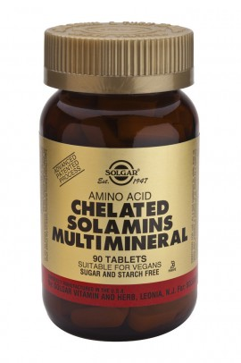 SOLGAR Chelated Solamins Multi Μineral, 90 tabs