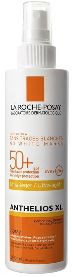 LA ROCHE-POSAY Anthelios XL Spray SPF50+ Πολύ Υψηλή Προστασία, Εξαιρετικά Ανάλαφρη Υφή, 200ml