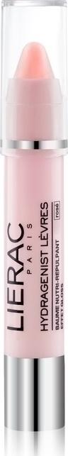 LIERAC Hydragenist Levres Baume Nutri-repulpant Effet Gloss Rose, Βάλσαμο Χειλιών για Θρέψη & Επαναπύκνωση, αποτέλεσμα Ροζ γκλος, 3g
