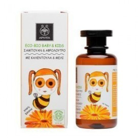 APIVITA Eco - Bio Baby & Kids Σαμπουάν & Αφρόλουτρο με Καλέντουλα & Μέλι, 200ml