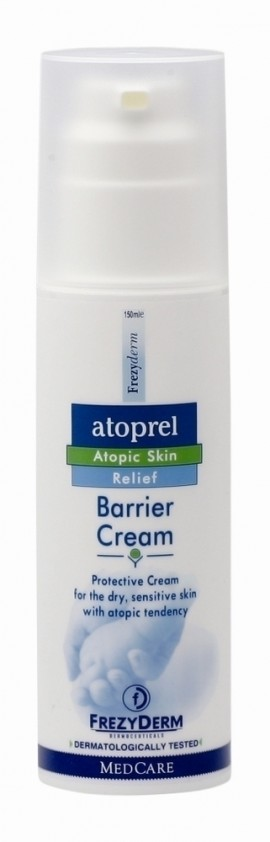 FREZYDERM Atoprel Barrier Cream, Προστατευτική Κρέμα για περιποίηση για ξηρό με ατοπική διάθεση δέρμα κατά την αλλαγή πάνας, 150ml