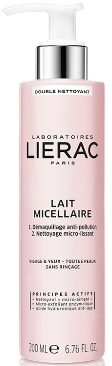 LIERAC Demaquillant Lait Micellaire Γαλάκτωμα Διπλού Καθαρισμού με μικύλλια, για όλες τις επιδερμίδες, 200ml