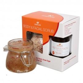 ANAPLASIS,  Body & Facial Scrub με Καστανή Ζάχαρη - Ελληνικό Αλάτι Μεσολογγίου & Σπόρους Cranberry, 250gr