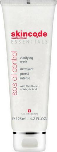 SKINCODE Essentials S.O.S Oil Control Clarifying Wash, Απαλό, στυπτικό καθαριστικό, 125ml