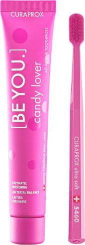 CURAPROX,  Be You Pure Candy Lover Οδοντόκρεμα Καρπούζι 90ml & Οδοντόβουρτσα CS 5460 Σε Ροζ Χρώμα, 1 Τεμάχιο