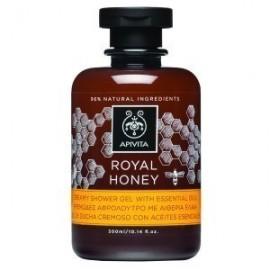 APIVITA Royal Honey Αφρόλουτρο με Αιθέρια Έλαια για Τόνωση & Αναζωογόνηση του Σώματος με Άρωμα μέλι, 300ml