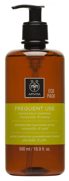 APIVITA Eco Pack Σαμπουάν για Καθημερινή Χρήση με Χαμομήλι & Μέλι, 500ml