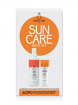 YOUTH LAB Sun Care Value Set Normal-Dry Skin Αντιηλιακό Σπρέι Προσώπου και Σώματος Spf 30 100ML & Αντιηλιακή Κρέμα Προσώπου με Χρώμα για Κανονικές- Ξη …