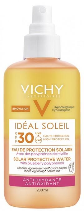 VICHY Ideal Soleil Anti-oxidant SPF30 Protective Solar Water Αντηλιακό Νερό Προστασίας για Αντιοξειδωτική Δράση, 200ml