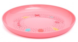 SUAVINEX Βοοο! Παιδικό πιάτο (ρηχό) Για Μωρά +4Μ Άθραυστο,  Χρώμα Ροζ code 1030654