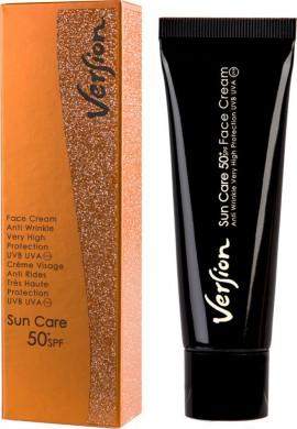 VERSION Sun Care SPF 50+  Πολύ ισχυρή αντηλιακή αντιρυτιδική κρέμα για κανονικά, ξηρά δέρματα 50ml
