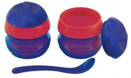 PRIMAMMA Μπωλ θερμός (2 τεμάχια) διατήρησης θερμοκρασίας & Κουταλάκι για μωρά 6+ μηνών code 841 Blue-Red
