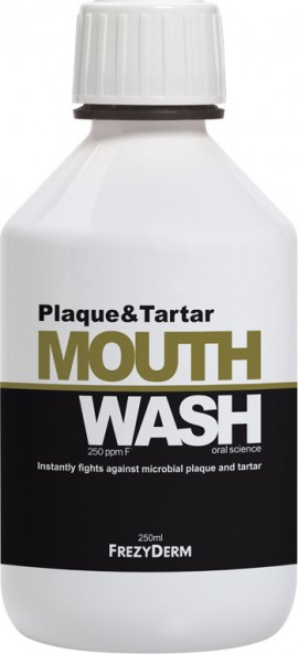 FREZYDERM Mouthwash Plaque & Tartar, Στοματικό Διάλυμα για τη Φροντίδα των δοντιών και των ούλων, 250ml