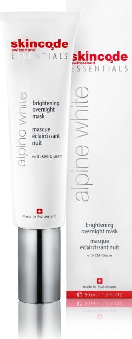 SKINCODE Essentials Alpine White Brightening Overnight Mask, Λευκαντική Μάσκα Νύχτας, 50ml