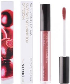 KORRES Morello Voluminous Lip Gloss NO23 Natural Purple Γεμάτα Xείλη & Λαμπερό Αποτέλεσμα, 4ml