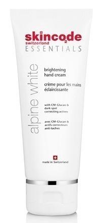 SKINCODE Essentials Alpine White Brightening  Hand Cream, Αντιγηραντική ενυδατική κρέμα χεριών, 75ml