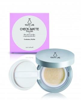 YOUTH LAB Check Matte Solution Compact Case ( Combination- Oily Skin) Για το μακιγιάζ Λεπτόρρευστη Σύνθεση που Απορροφά την Λιπαρότητα της Επιδερμίδας …
