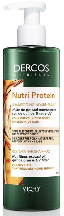 VICHY Dercos Nutri Protein Shampoo Σαμπουάν για Ξηρά Μαλλιά, 250ml
