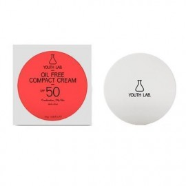 YOUTH LAB Oil Free Compact Cream Spf50 Combination Oily Skin dark color Αντιηλιακή κρέμα compact για μικτό ή λιπαρό δέρμα, υψηλή προστασία και bronze …