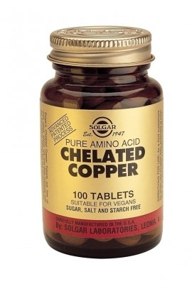 SOLGAR Chelated Copper 2.5mg, 100Tabs