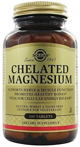 SOLGAR Chelated Magnesium 100mg, 100Tabs