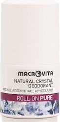MACROVITA, Natural Crystal Deodorant Roll-On Pure, Φυσικός Αποσμητικός Κρύσταλλος, 50ml