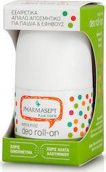 Pharmasept Kid Care, Extra Mild Deo Roll-on, Εξαιρετικά απαλό αποσμητικό για παιδιά & εφήβους, 50ml