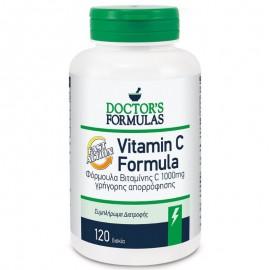 Doctors Formulas Vitamin C Formula Fast Action Φόρμουλα Βιταμίνης C Γρήγορης Απορρόφησης 1000mg 120 δισκία