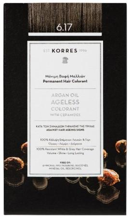 KORRES Argan Oil Colorant NO6.17 Light Blonde Beige, 50ml
