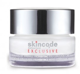 SKINCODE Exclusive Cellular Wrinkle Prohibiting Eye Contour Cream, Αντιρυτιδική και συσφικτική κρέμα ματιών, 15ml