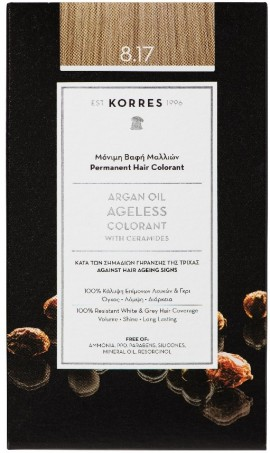 KORRES Argan Oil Colorant NO8.17 Light Blonde Beige, 50ml