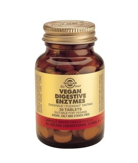 SOLGAR Vegan Digestive Enzymes, 50Tabs