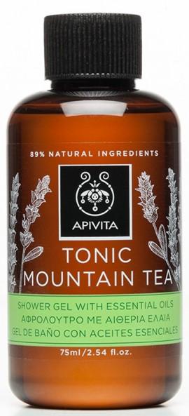 APIVITA Tonic Mountain Tea Mini Αφρόλουτρο με Ελληνικό Τσάι του Βουνού, 75ml