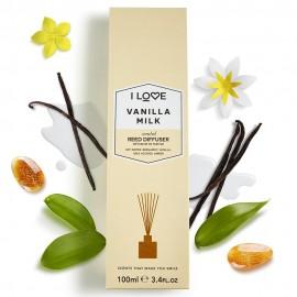 I LOVE Cosmetics Vanilla Milk Reed Diffuser Αρωματικά Sticks Χώρου με αρώματα Βανίλιας και Φρούτων για Απόλυτη Αίσθηση Χαλάρωσης 100ml ( 1 τεμάχιο)